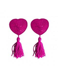 Tapa Mamilos Ouch! Heart Nipple Tassels Rosa