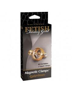 Pinças Magnéticas Para Os Mamilos Fetish Fantasy Gold Magne