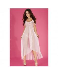 Camisa De Noite E Tanga Cr-3716 Rosa