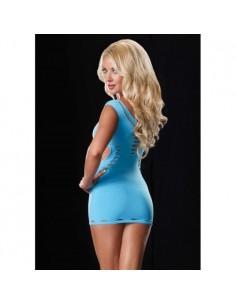 Vestido Com Sensuais Aberturas Azul - Único - PR2010324463