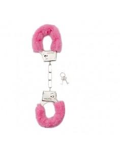 Algemas Com Peluche Furry Handcuffs Rosa