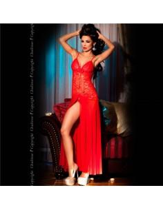 Camisa De Noite E Tanga Cr-3471 Vermelha