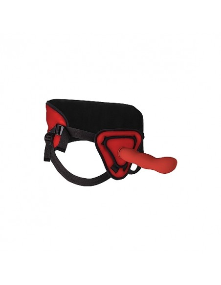 Strap-On Ouch! Deluxe Silicone 25,5Cm Vermelho - PR2010341702