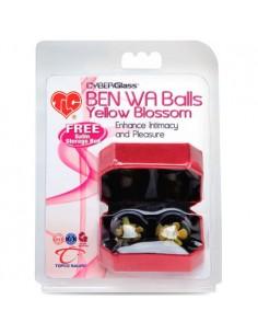 Bolas Vaginais De Vidro Cyberglass Ben Wa Balls Yellow Blos - PR2010324838