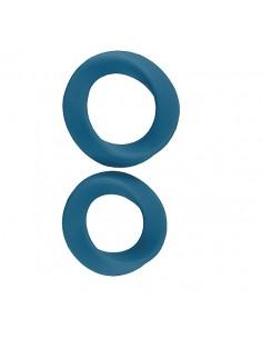2 Anéis Para O Pénis Infinity Thin L & Xl Cockring Azul - PR2010341617