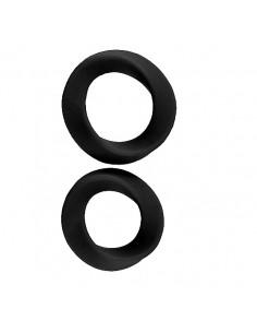 2 Anéis Para O Pénis Infinity Thin L & Xl Cockring Preto - PR2010341619