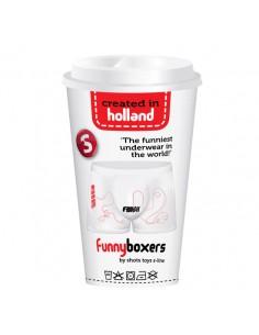 Boxer Divertido Labirinto com Finish Branco - Branco - Único - PR2010305018
