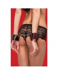 Algemas Ouch! Reversible Wrist Cuffs Vermelhas E Pretas - PR2010340786