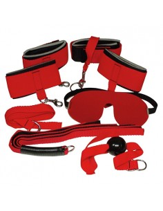 Kit Bondage Set Bad Kitty Vermelho