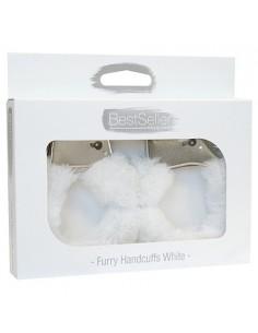 Algemas Com Peluche Bestseller Furry Handcuffs Brancas - PR2010346180