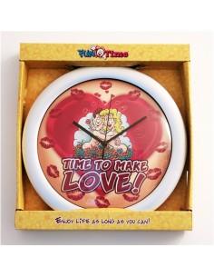 """Relógio de Parede """"Time to make Love"""""""