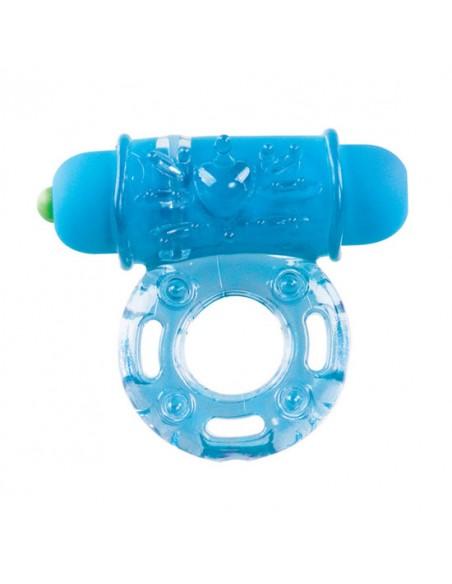 Anel Vibratório Vibrating Bullet Ring Azul
