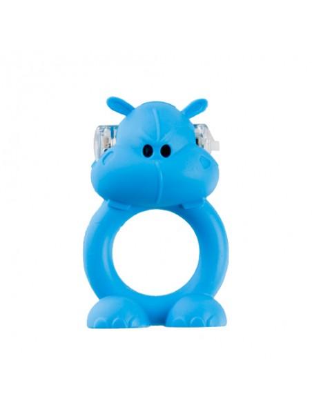 Anel Vibratório Com Luz Beasty Toys Happy Hippo