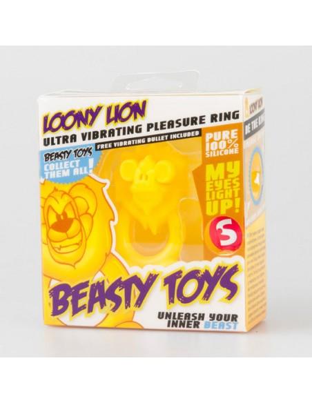 Anel Vibratório Com Luz Beasty Toys Loony Lion - PR2010302112