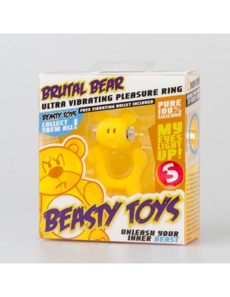Anel Vibratório Com Luz Beasty Toys Brutal Bear - PR2010302113