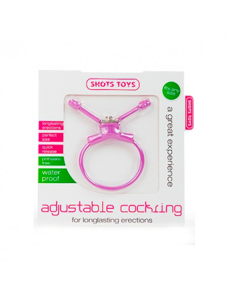 Anel Ajustável Para O Pénis Adjustable Cockring Roxo - PR2010313320