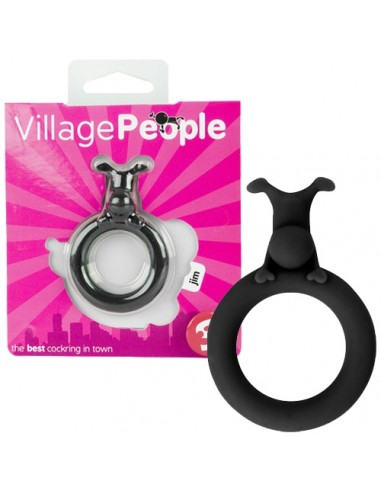 Anel Para O Pénis Village People Jim Preto - PR2010319196