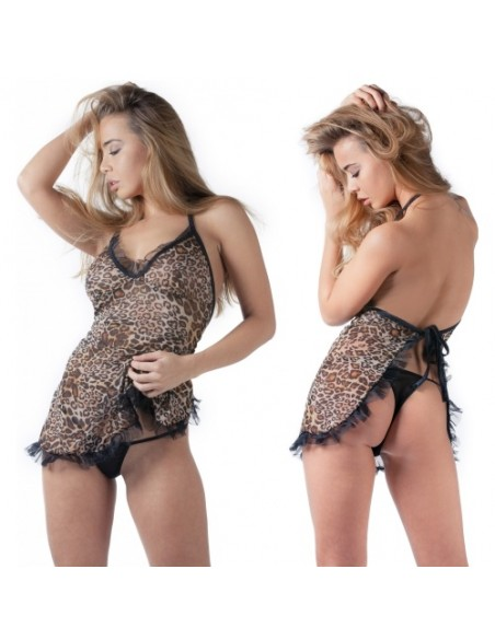 Camisa De Noite Leopardo