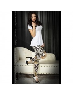 Leggings Cr-3457 Verdes E Pretas - 40 L - PR2010319956