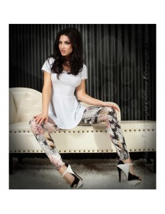 Leggings Cr-3457 Rosa E Pretas - 36 S - PR2010319948