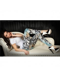 Leggings Cr-3457 Azuis E Pretas - 36 S - PR2010319951