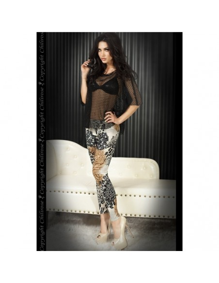Leggings Cr-3456 Castanhas E Pretas - 40 L - PR2010319941