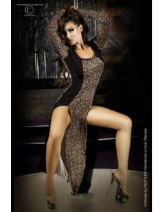 Vestido Cr-3405 Leopardo Laranja