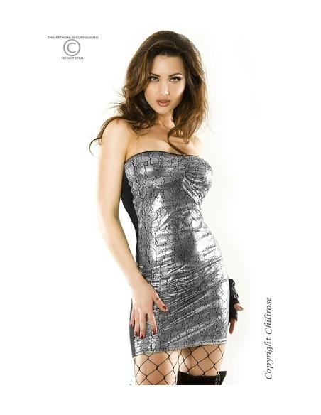 Vestido Cr-3348 Prateado