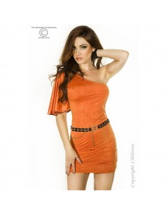 Vestido Cr-3253 Laranja