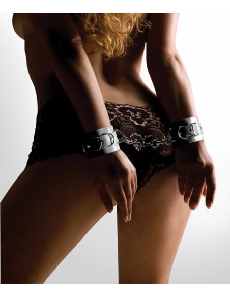Algemas Ouch! Leather Handcuffs Brancas - PR2010318029