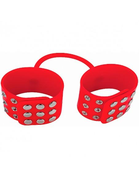 Algemas De Silicone Silicone Cuffs Vermelhas