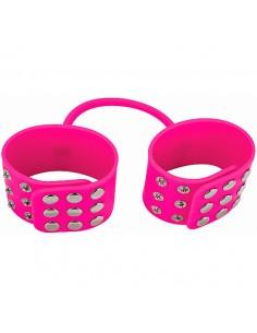 Algemas De Silicone Silicone Cuffs Rosa