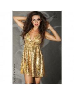 Mini-Vestido Cr-3415 Dourado