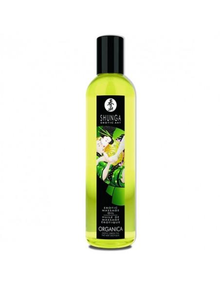 Óleo De Massagem Shunga Organica Chá Verde