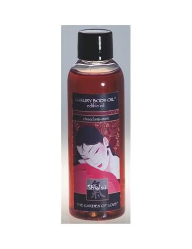 Óleo De Massagem Comestível Shiatsu Chocolate E Ment - 100ml - PR2010300205