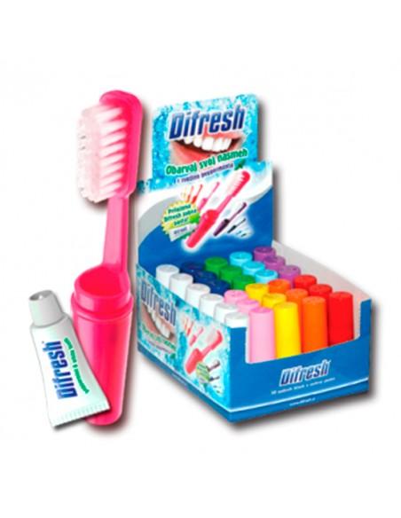 Kit Escova de dentes com pasta para viagem