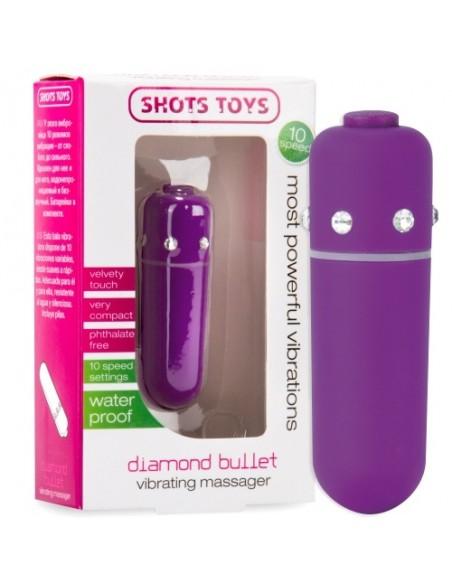 Bala Vibratória Diamond Bullet Roxa