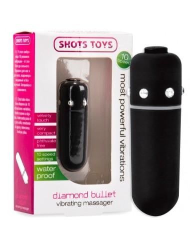 Bala Vibratória Diamond Bullet Preta - PR2010320797