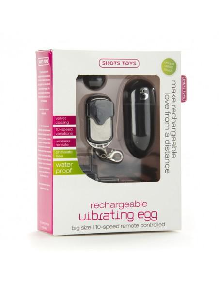 Ovo Vibratório Recarregável Vibrating Egg Preto - PR2010312554