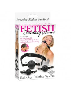 Mordaça De Treino Ball Gag Training System Fetish Fantasy S