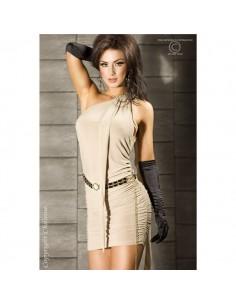 Vestido Cr-3164 Bege