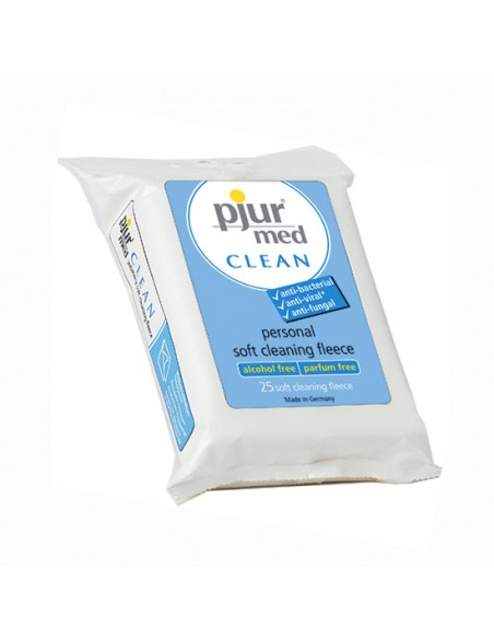 25 Toalhitas Desinfetantes Pjur Med Clean