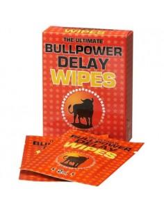 Caixa Com 6 Toalhitas Retardantes Bull Power Delay Wipes 2M