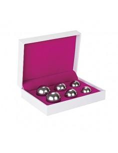 Conjunto De 3 Bolas Vaginais Ben Wa Balls Prateadas
