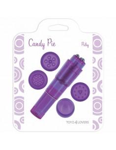 Vibrador Candy Pie Pulsy Roxo