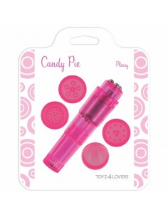 Vibrador Candy Pie Pleasy Rosa - PR2010322201