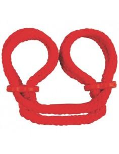 Algemas Para Os Tornozelos Japanese Silk Love Rope Vermelhas - PR2010323134