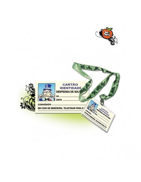 Cartão identificação solteiro