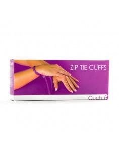 Algemas Descartáveis De Plástico Ouch! Zip Tie Cuffs Roxas